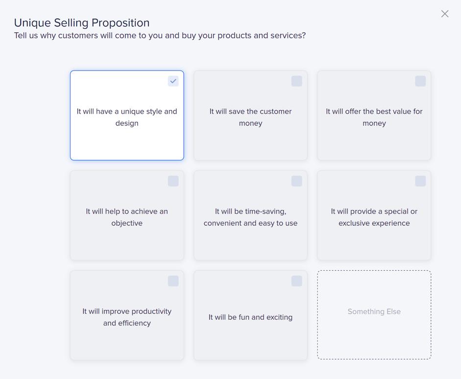 Unique Selling Proposition Page