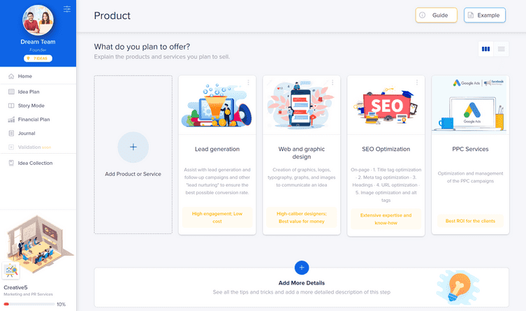 IdeaBuddy - Product_portfolio