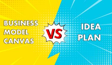 business model canvas vs idea plan cover